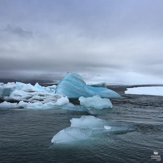 Icebergs en Jökulsárlón en Islandia