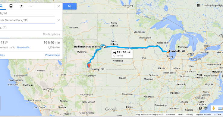 Driving from WI to CO: The Route!