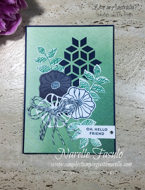 Oh So Eclectic - Simply Stamping By Mail - This card was just one of the fantastic projects in last months Stamping By Mail Class. To see what wonderful classes are on this month, go here - http://www.simplystampingwithnarelle.com/p/stamping-by-mail.html