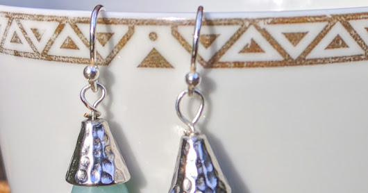 "Sterling Silver Amazonite Earrings ""Aqua Drops"""
