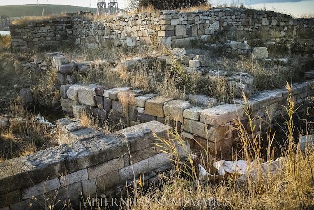 muralla septentrional del castillo bizantino de Kyme