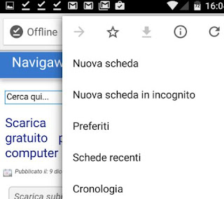 chrome android scarica siti e video