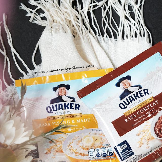 Quaker Oats Instan Rasa Pisang Madu dan Rasa Cokelat