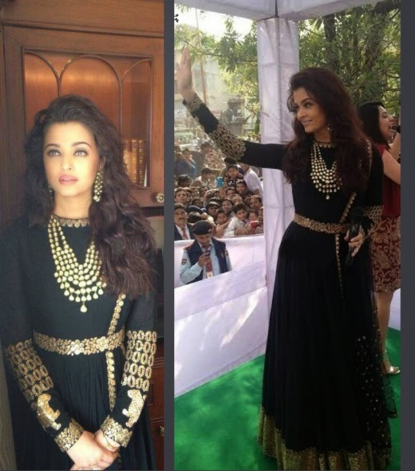 Aishwarya Rai In Designer Sabyasachi Mukherjee's Anarkali ... Sabyasachi Anarkali 2014