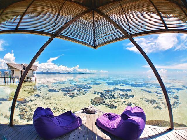 Bedroom Water Villa Pulau Cinta Gorontalo