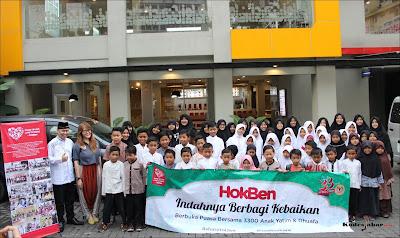 HokBen Buka Puasa bersama dengan 3.300 Anak Yatim dan Dhuafa