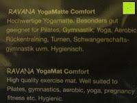 """Info: Yogamatte """"Ravana"""" Die ideale Yoga- und Gymnastikmatte für Yoga-Einsteiger. Maße: 183 x 61 x 0,4cm / Indian türkis"""