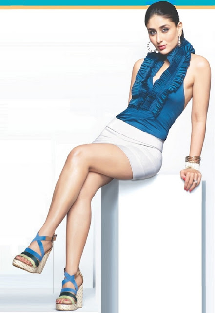 Sitting Crossed Leg On A Low Table - Bollywood Actress -7100
