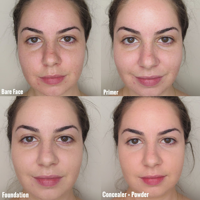a picture of Before & After Diorskin Forever Perfect Makeup Broad Spectrum 35 and Diorskin Forever & Ever Wear Extreme Perfection (010 Ivory) & Hold Makeup Base