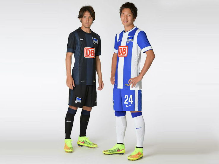 New Hertha Bsc 14 15 Home And Away Kits Footy Headlines