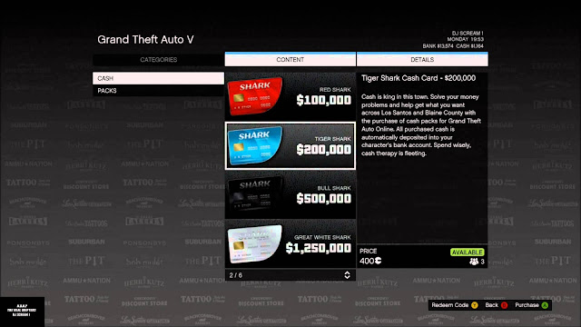 Grand Theft Auto V Shark Cards micro-transactions