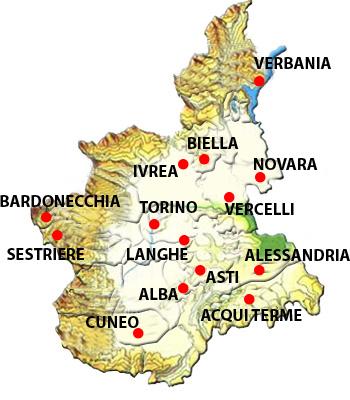Bardonecchia Cartina Geografica.Italia Mappa Regionale Mappa Di Piemonte Regionale