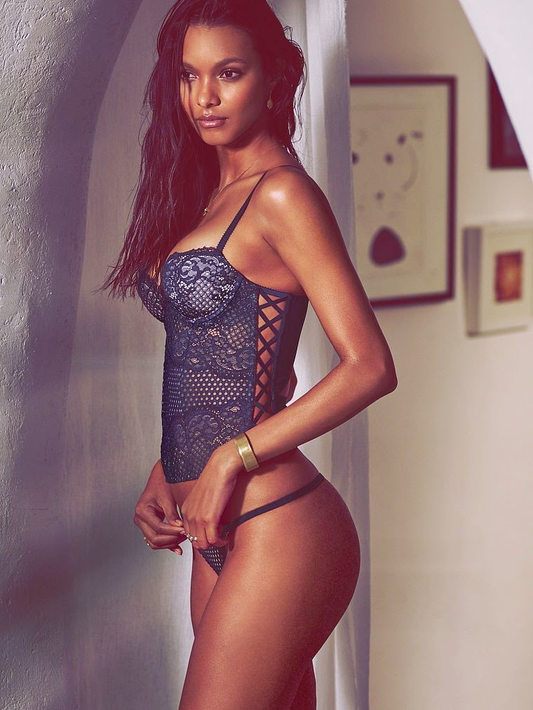 Lais Ribeiro smoulders for the Victoria's Secret May 2015 Lookbook