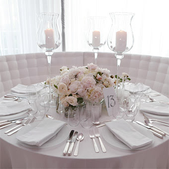 Pretty and glam white tables