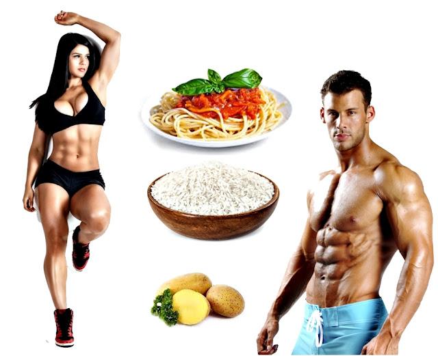Carbohidratos antes y después de entrenamiento pesas