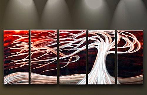 Tableau design peinture sur panneaux en m tal for Deco murale a la peinture