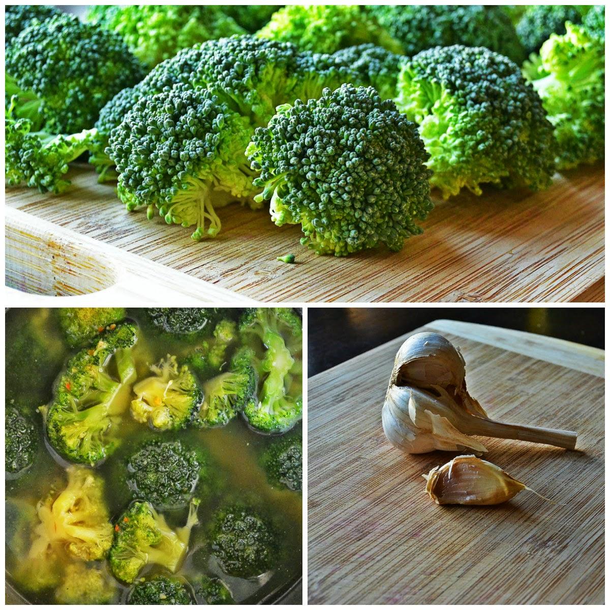 Zupa krem brokułowa, brokuły, czosnek, bulion warzywny
