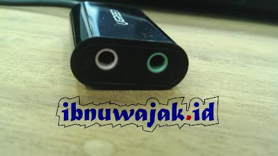 port microphone dan stereo jack USB soundcard ugreen pid 30724