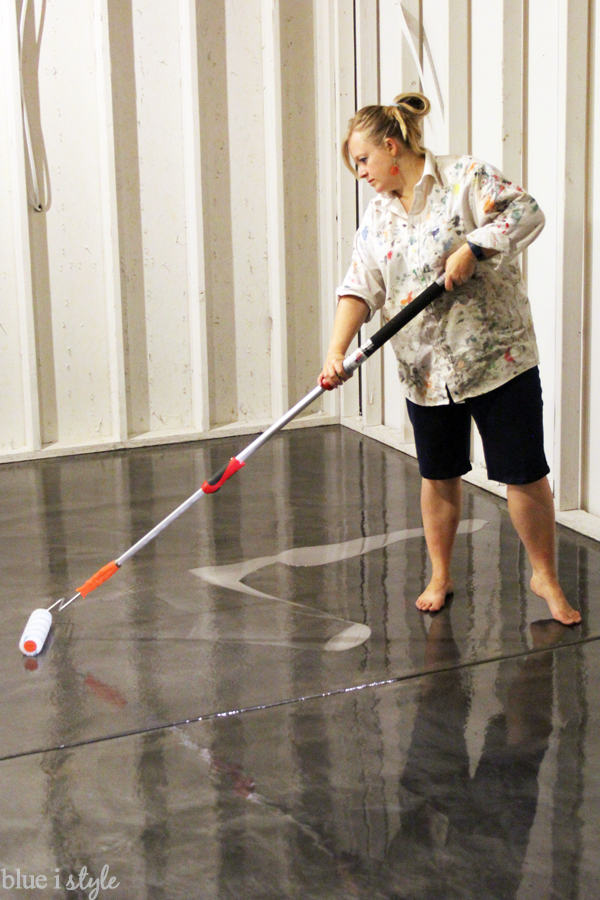 How To Apply Rocksolid Metallic Garage Floor Finish Blue