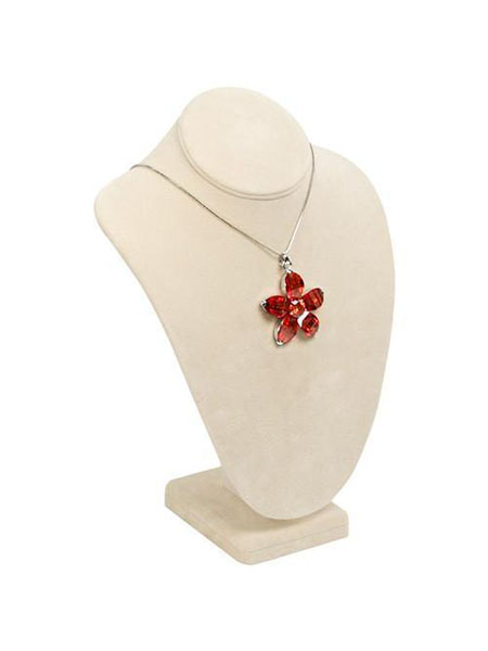 Use jewelry displays in beige, salmon, orange, or red to add living coral to your shop