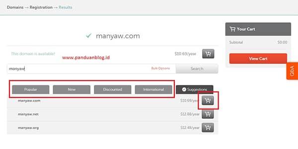 Cara Membeli Domain di Namecheap, Beli Domain Murah