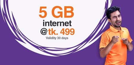 Banglalink 5 GB Internet Data Package 499 Taka for 30 Days