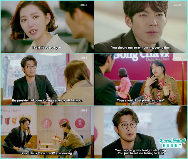 joon young called producer Yoon and ask for no eul to do the evening shooting - Uncontrollably Fond - Episode 17 Review