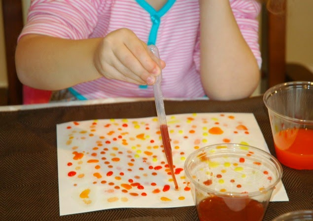 Eye Dropper Indian Corn.  Thanksgiving fine motor craft for preschool, kindergarten, or elementary students.