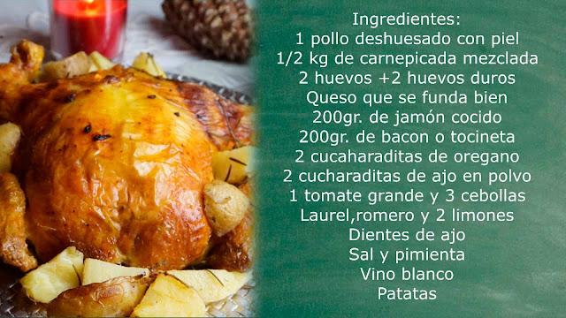 Ingredientes pollo relleno