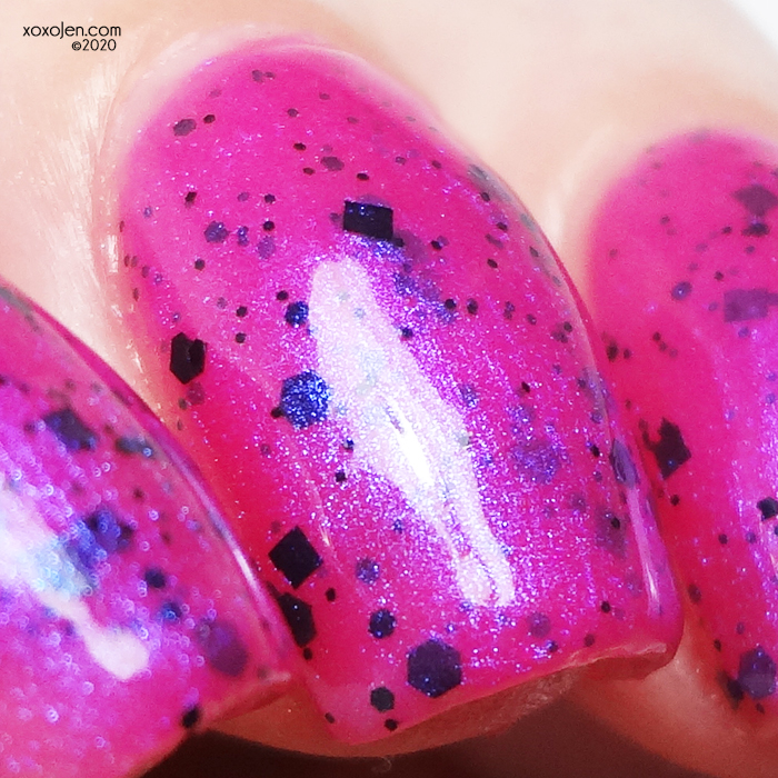 xoxoJen's swatch of 77 Nail Lacquer Hope. Strength. Love.