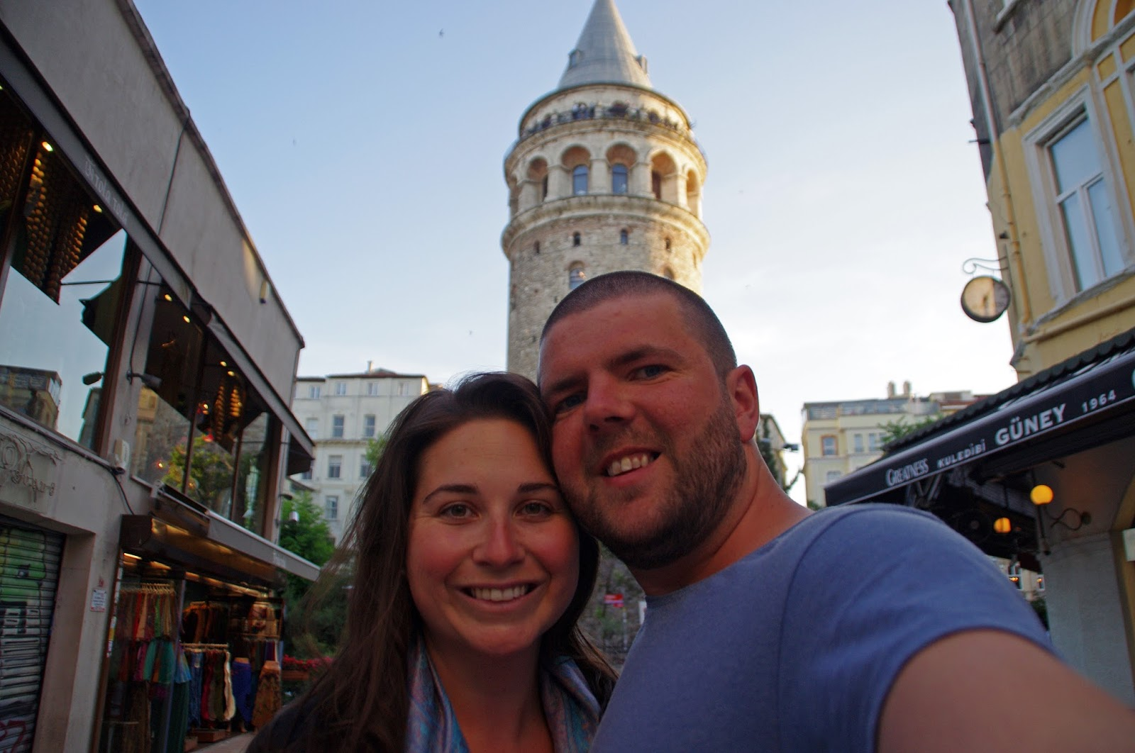 Couple at Galata Tower