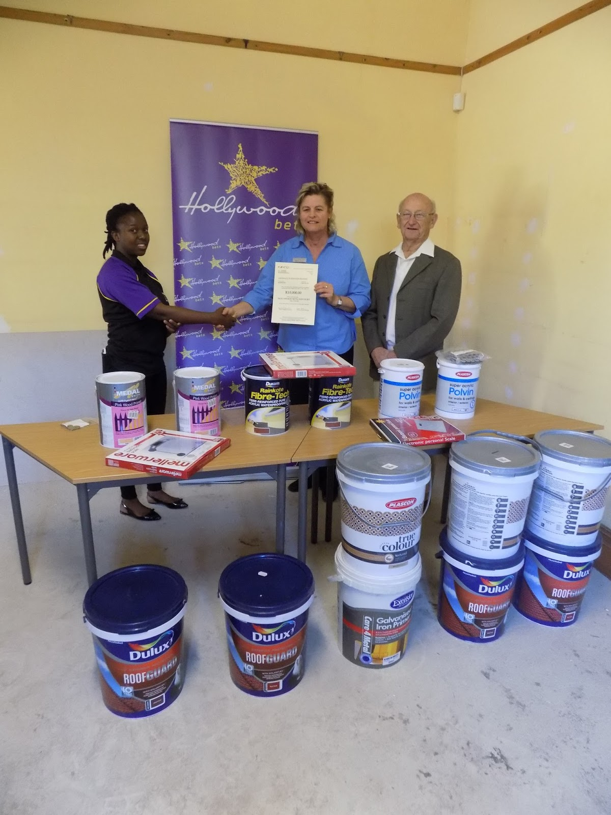 Staff at Estcourt Hospice Association are thankful for Hollywoodbets' help repairing their building