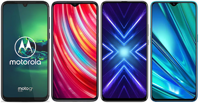 Motorola Moto G8 Plus vs Xiaomi Redmi Note 8 Pro vs Honor 9X vs Realme 5 Pro