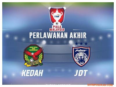 Live Streaming Kedah vs JDT FC 4 November 2017 Final Piala Malaysia