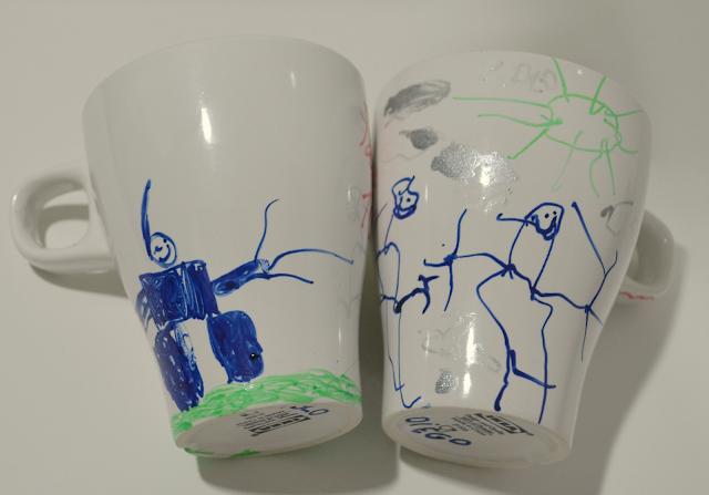 Las tazas de los niños