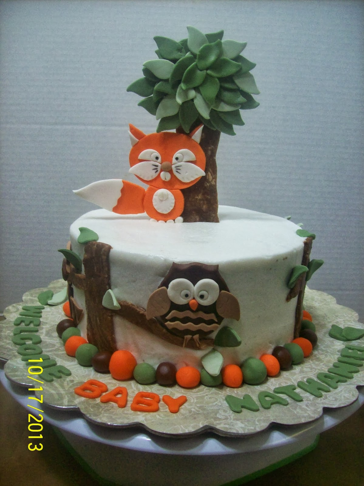 Cakes By Chris: Woodland Animals Baby Shower