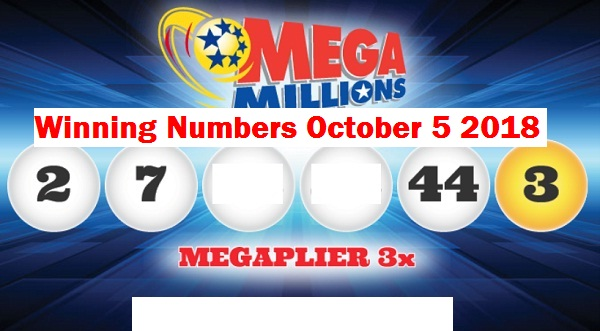 Mega Millions Winning Numbers October 5 2018