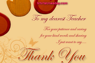 Thank you Christmas messages for teachers