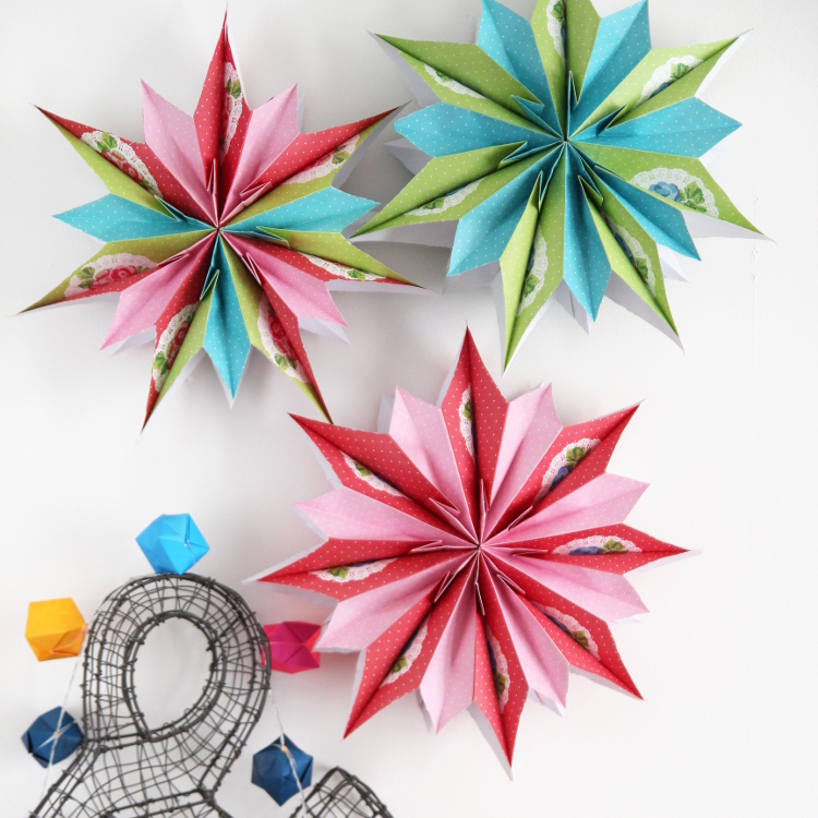 Diy paper bag stars gathering beauty for 3d star decoration