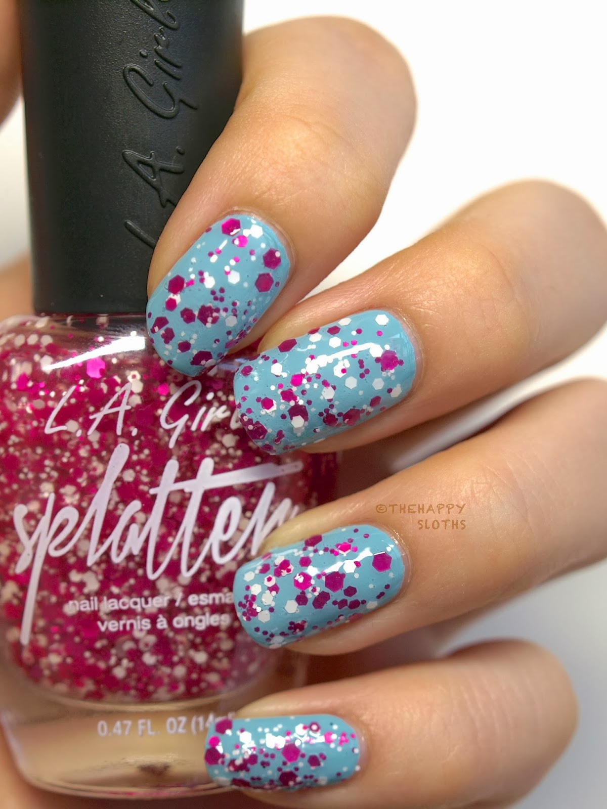L A Girl Splatter Effect Nail Polish In Quot Sprinkle Quot And Quot Sparkle Quot Review And Swatches The