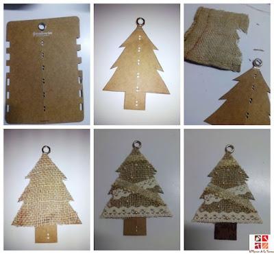 árbol rústico con cartón