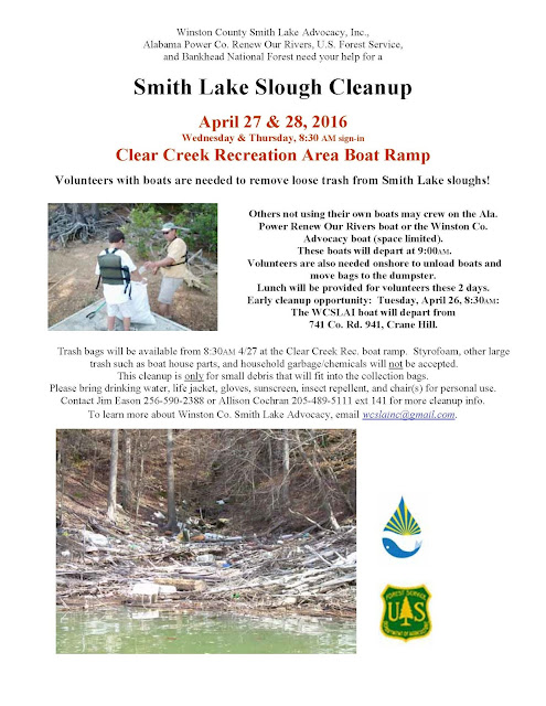 Smith Lake Slough Cleanup Flyer