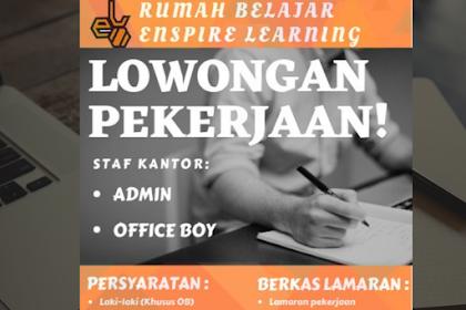Lowongan Kerja Admin dan Office Boy Bimbel Enspire Learning