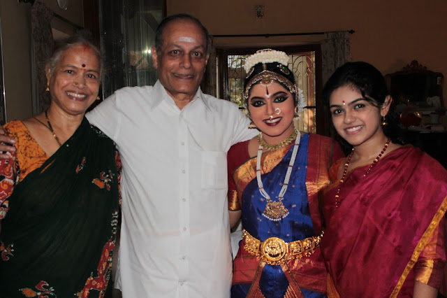 With Sundaram mama and Gomathy mami