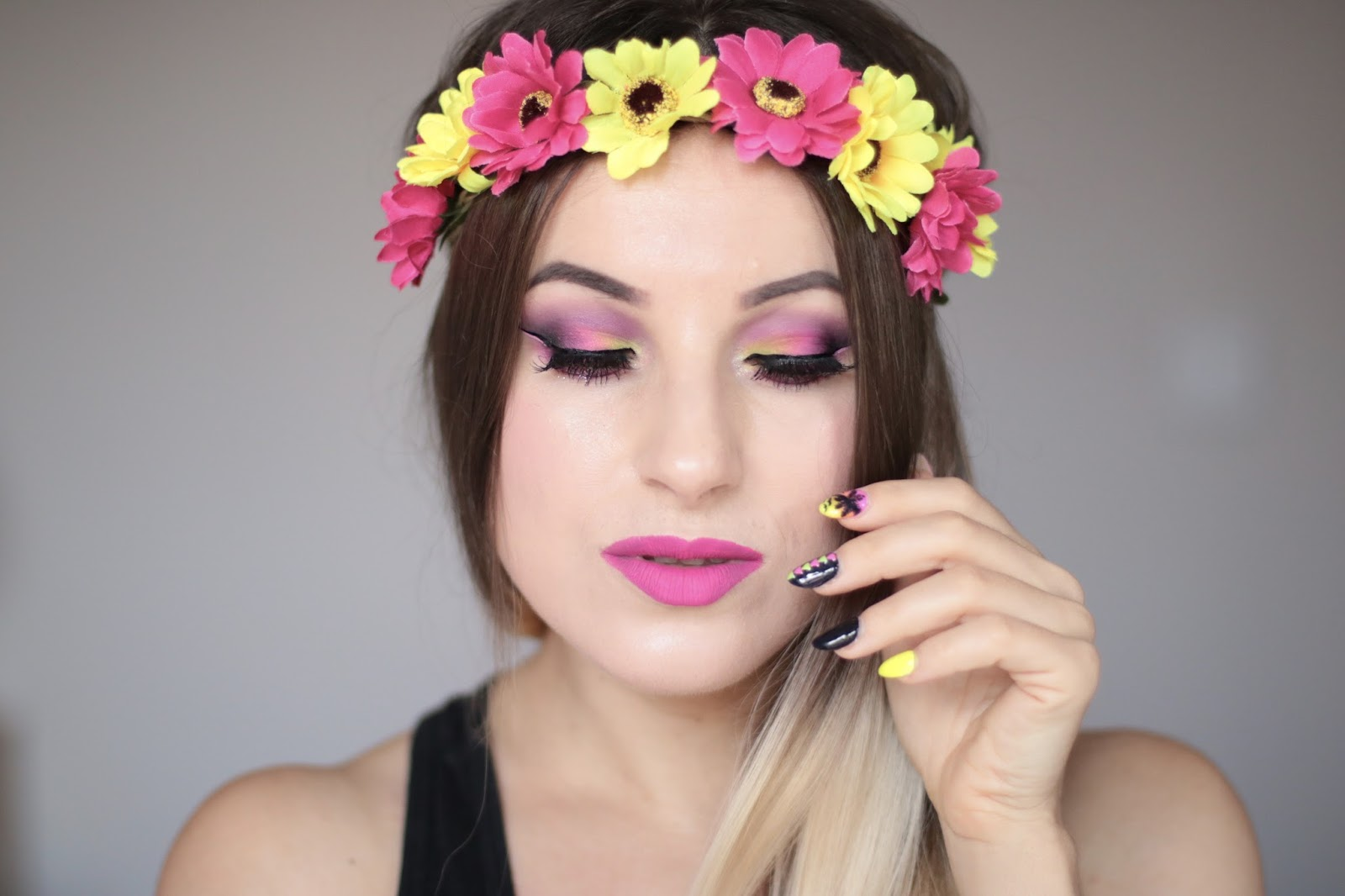 GoodBye Summer - Colorful Neon Makeup