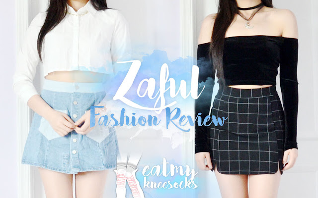 I recently received my long-awaited package from Zaful, which contained two items that I listed in my previous Zaful fashion wishlist. So, in today's post I'll be reviewing the two skirts that I chose, including a rose-embroidered button-front denim skirt and grid-print black bodycon skirt. - Eat My Knee Socks / Mimchikimchi