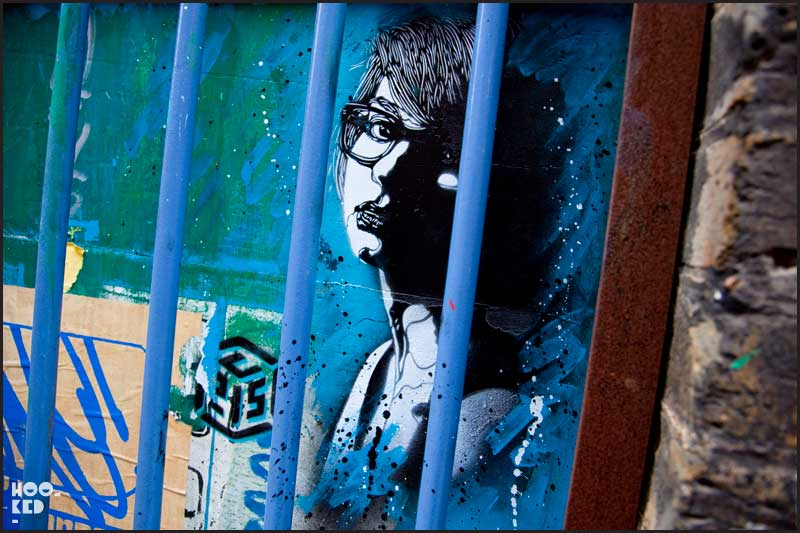 C215 - Shoreditch Street Art stencil work on Blackall Street