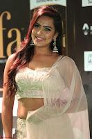 Prajna Actress in backless Cream Choli and transparent saree at IIFA Utsavam Awards 2017 0112.JPG