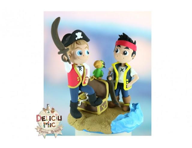 figurine pentru tort jake si piratii din tara de nicaieri