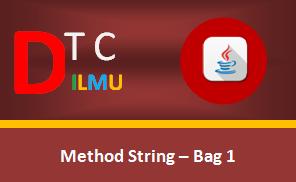 Operasi-Operasi String pada Pemrograman Java